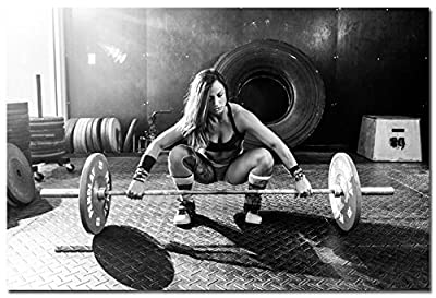 Weightlifting Bodybuilding Fitness Motivational Art Silk Poster 24x36 inches