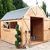 10ft x 8ft Shiplap Apex Wooden Storage Shed - Dutch Barn - Brand 10x8 New Double Door Full Tongue and Groove Sheds