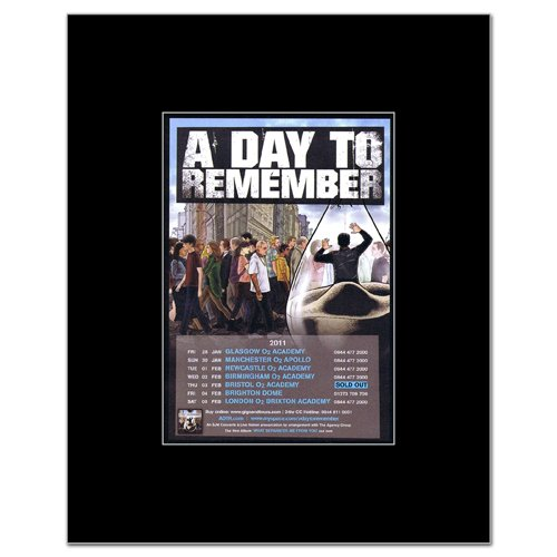 A Day To Remember - Uk Tour 2011 Matted Mini Poster - 13.5X10Cm