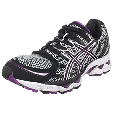 ASICS Women's GEL-Nimbus 12 Running Shoe,Lightning/Black/Plum,6 M US