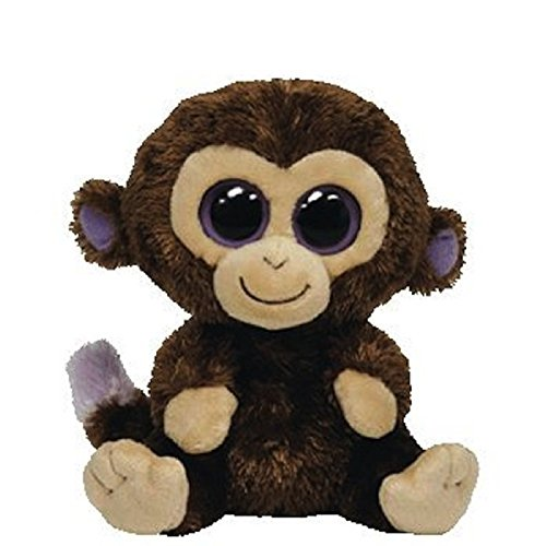 Ty Inc Beanie Boo Plush Stuffed Animal Coconut Brown Monkey - 1