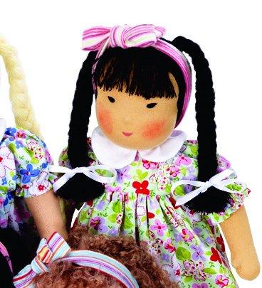 Kathe Kruse Heirloom-Quality German Waldorf Doll, In Su Li front-978615
