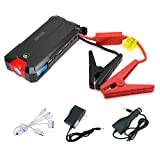 [5.0L Gas, 3.0L Diesel Max] Arteck Car Jump Starter Auto Battery Charger and 12000mAh External Battery Charger Jump Starter for Automotive, Moto, Tractor, Boat, Phone with Clamps, 12V and 400A Peak