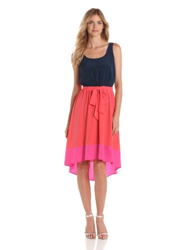 AGB Women's Sleeveless Colorblock Dress