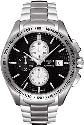 Tissot Men's T0244271105100 Velco-T Black Chronograph Dial Watch
