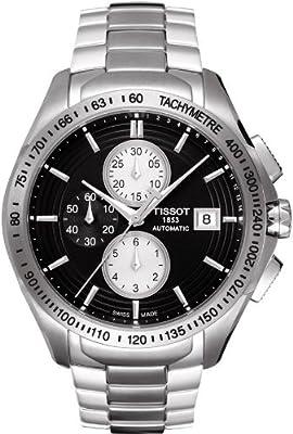 Tissot Men's T0244271105100 Velco-T Black Chronograph Dial Watch by Tissot