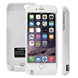 ハヤブサモバイル iPhone6/6S 4.7 大容量5700mAh モバイルバッテリー内蔵ケース 白 [イヤホン延長ケーブルと日本語取扱説明書付]
