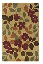 Big Sale Rizzy Home PR0625 Pandora 9-Feet by 12-Feet Area Rug, Light Gold