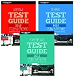 ASA Set of 3 2015 AMT Test Guide Books- General, Airframe, and Powerplant
