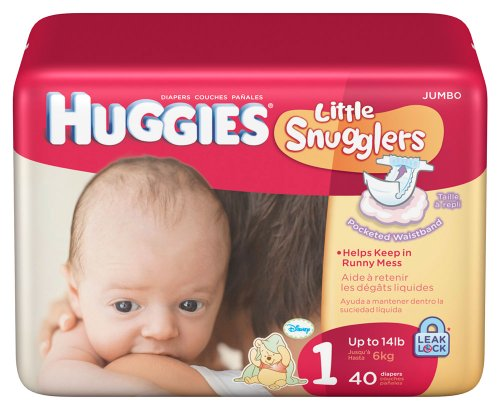 Huggies Little Snugglers Size 1 - 40 Count - 1