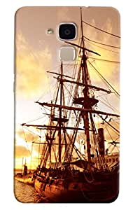 Omnam Old Boat Style Printed Designer Back Cover Case For Huawei Honor 5C