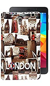ECellStreet Exclusive Silicon Printed Soft Back Case Cover Back Cover For Samsung Galaxy Tab S 8.4 T700- London
