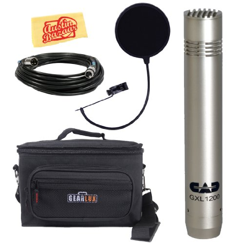 Cad Gxl1200 Cardioid Condenser Microphone Bundle With Gear Bag, Pop Filter, Xlr Cable, And Polishing Cloth