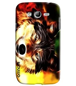 Omnam Dog Made Of Fire Printed Designer Back Cover Case For Samsung Galaxy Grand