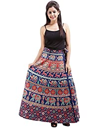 Jaipur Skirt Women's Cotton Wrap Skirt - B01F5OKDPC