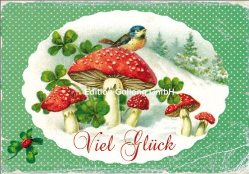 double-envelopecarola-pabstluck-card-with-mushrooms-blue-tit-mica-lacquer