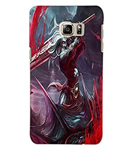 SAMSUNG GALAXY S6 EDGE PLUS WARRIOR Back Cover by PRINTSWAG