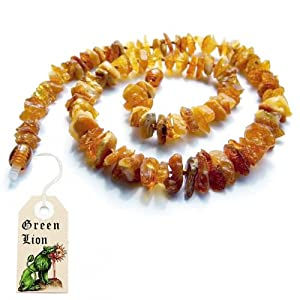True baltic amber healing necklace 16 for Jewelry made from kidney stones