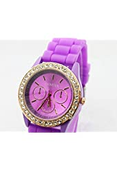 Domire Ladies brand GENEVA Watch Classic Gel Crystal Silicone Jelly watch
