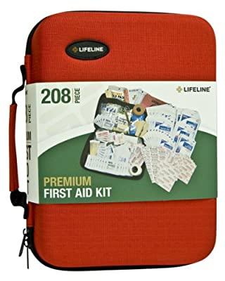 Lifeline 4038 Red Premium Hard Shell First Aid Kit - 208 Piece from Lifeline