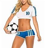 ohyeahlady レディーズ 人気 戸外 ブラジャーとズボンセット スポーツ ブラジャー 運動ブラ 全4色 (浅い藍色)