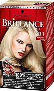 Brillance Intensiv-Color-Creme, 811 Scandinavia Blond, 3er Pack (3 x 1 Stück)