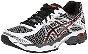ASICS Men's Gel-Flux 2 Running Shoe,Onyx/Black/Flash Orange,9.5 M US