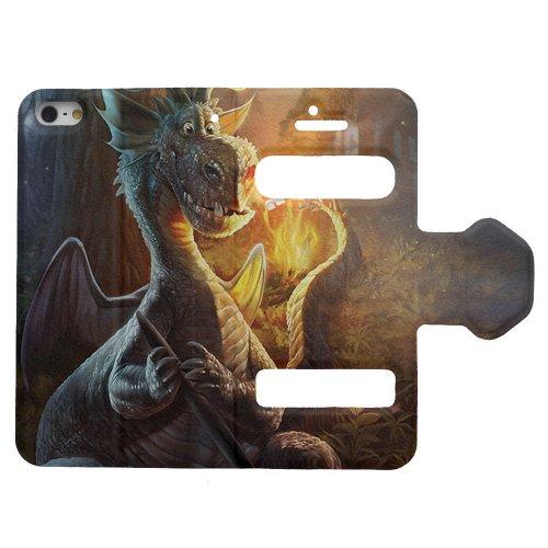 Designheaven Leather Flip Case ( Cool Funny Cute Dragon Marshmallow )