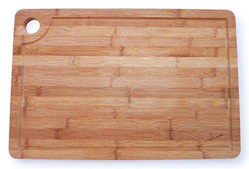 Culina Extra Large Thick Bamboo Cutting Board - 18x12 with Drip Groove (Wood Cutting Board Large compare prices)