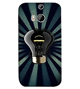 Fuson Premium Luminiscent Bulb Printed Hard Plastic Back Case Cover for HTC One M8