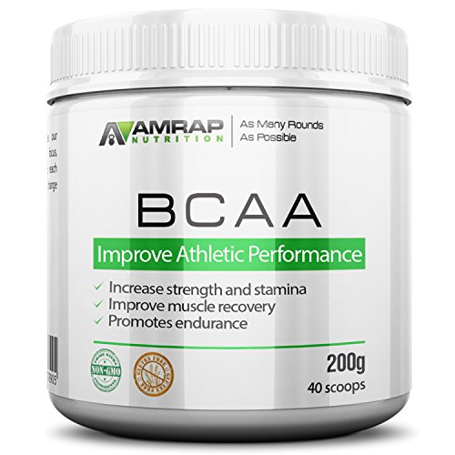 AMRAP Nutrition - Branched Chain Amino Acid Recovery Powder - Clinically Proven - The Best and Most Effective BCAA Formula for Providing Essential Amino Acids - 200g - Up to 40 Servings (Organic Bcaa compare prices)