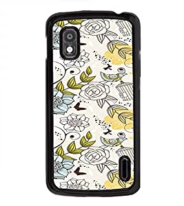 iFasho Animated Pattern colrful design flower and cage and birds Back Case Cover for LG Google Nexus 4
