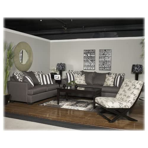 Levon Charcoal Accent Chair 7340321 Living Room Chairs