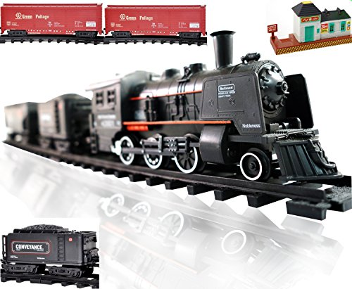 Railway King Electric Steam Locomotive Classical Train Playset with Lights and Train Sound (Steam Toy Train compare prices)