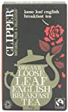 Clipper Fairtrade Organic Loose Leaf English Breakfast Tea 125 g (Pack of 6)