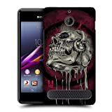 Head Case Designs Music Head Skull of Rock Protective Snap-on Hard Back Case Cover for Sony Xperia E1 Dual E1