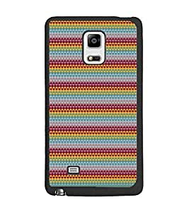 PrintDhaba Pattern D-1750 Back Case Cover for SAMSUNG GALAXY NOTE 4 (Multi-Coloured)