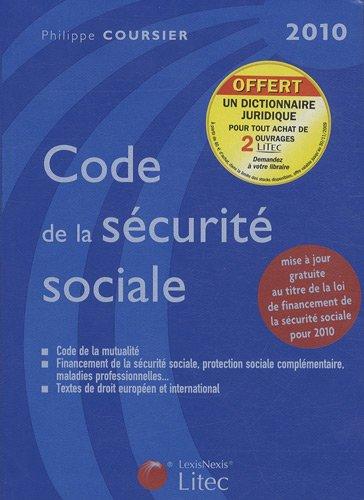 code de la securite sociale 2010 ancienne edition litec. Black Bedroom Furniture Sets. Home Design Ideas