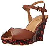 Nine West Womens Bigeasy Leather Platform Sandal