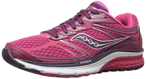 Saucony Women's Guide 9 Running Shoe, Pink, 10 M US
