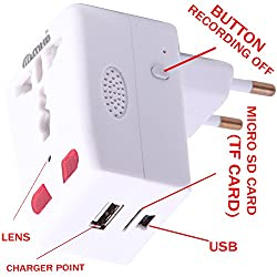 M MHB® HD Mobile Charger Hidden camera Motion Detection with Long Hours Recording.Original brand Sold by Only M MHB® .While recording no light Flashes.(f)
