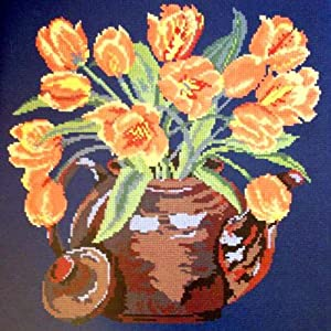 Tulip Teapot Needlepoint Kit