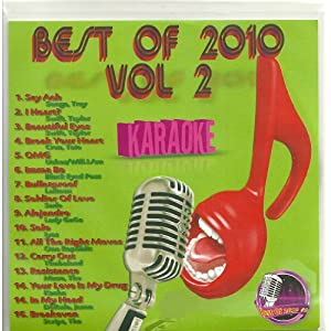 BEST OF 2010 #2 CD+G KARAOKE 16 Current Pop Songs
