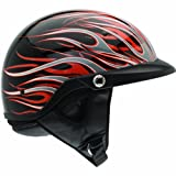 Bell Flames Pit Boss Harley Motorcycle Helmet - Black/Orange / X-Large/2X-Large