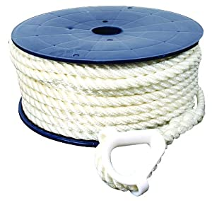 Buy Invincible Marine 100-Foot Twisted Nylon Anchor Line, 3 8-Inches by 100-Feet, White by Invincible Marine