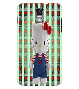 PrintDhaba Kitty Toy D-3284 Back Case Cover for SAMSUNG GALAXY S5 (Multi-Coloured)