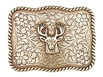 Western Deer Head Belt Buckle