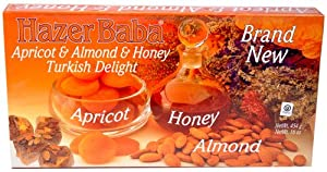 Hazer Baba Apricot-Almond-Honey Turkish Delight, 16oz