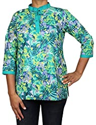 Cotton Printed Shirt Comfortable Airy Dresses For Women Indian Tops