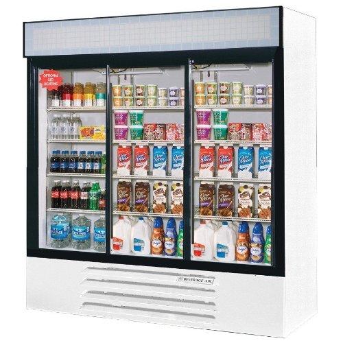 Beverage Air LV66Y-1-W Refrigerated Display Merchandiser w/ 3-Sliding Doors, White, 70-cu ft, Each